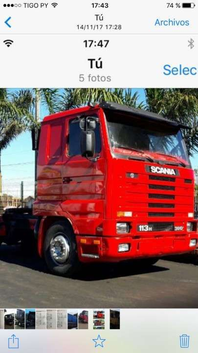 Scania 113-360 1996 caja 3-3 - 0